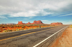 Monument Valley Route Royalty Free Stock Photos