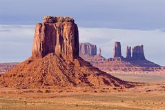Monument Valley - sandstone butte Royalty Free Stock Photos