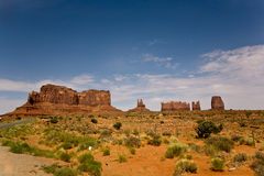 Monument Valley with Sandstone Formation called King on his Throne Stock Photo