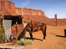 American Southwest, Horse in Desert Landscape. Monument Valley - Scenic desert landscape and horse. American Southwest. Arizona Utah royalty free stock images