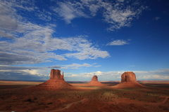 Monument Valley Shadows Stock Photo