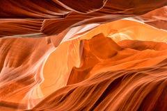 Monument valley shape inside Arizona Antelope Canyon Stock Photos