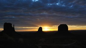 Monument Valley Silhouette Royalty Free Stock Photography