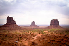 Monument valley sisters buttes Stock Photos