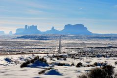 Monument Valley in the snow Stock Photos
