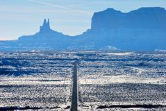 Monument Valley in the snow Royalty Free Stock Images