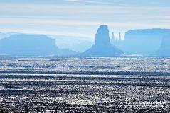 Monument Valley in the snow Stock Photo