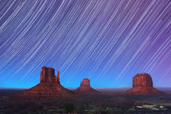 Monument Valley Star Trails 2 Royalty Free Stock Image