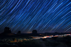 Monument Valley Star Trails Royalty Free Stock Photo