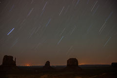Monument Valley Star Trails Stock Photography