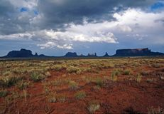 Monument Valley Storm Royalty Free Stock Photo