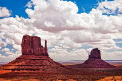 Monument valley summer day landscape Stock Images
