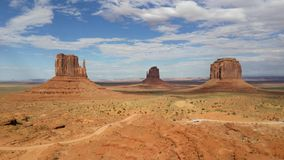Monument valley sun Stock Image