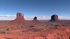 Monument Valley on a sunny day. Arizona stock video