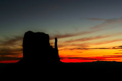 Monument Valley at Sunrise Royalty Free Stock Images