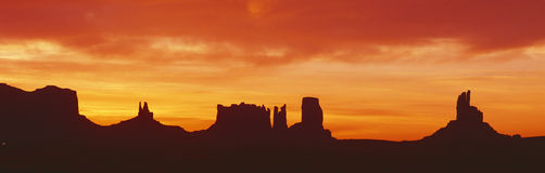 Monument Valley at sunrise Royalty Free Stock Image