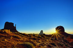 Monument Valley at sunrise Royalty Free Stock Photos