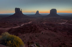 Monument Valley at sunrise Stock Images