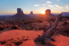 Monument Valley at sunrise Stock Photos