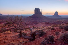 Monument Valley at sunrise Stock Photo