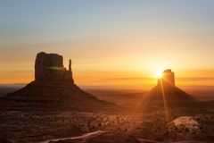 Monument Valley at sunrise. Monument Valley landscape at sunrise Stock Photography
