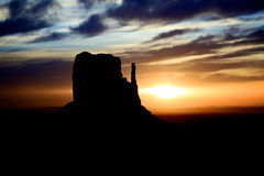 Monument Valley Sunrise Left Mitten Royalty Free Stock Image
