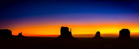 Monument Valley with a sunrise. Monument valley in the morning Royalty Free Stock Image