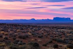Monument Valley during Sunrise. This is the picture of Monument Valley during sunrise, Utah Royalty Free Stock Photography