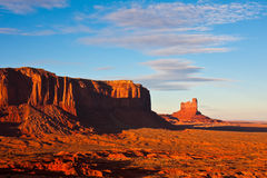 Monument Valley Sunset. Butte and mesa at sunset in Monument Valley Tribal Park, Arizona Royalty Free Stock Photos