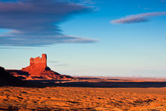Monument Valley Sunset. Monument Valley Tribal Park peak at sunset Royalty Free Stock Photo
