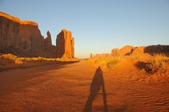 Monument Valley Sunset Stock Image
