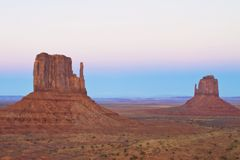 Monument Valley at Sunset Royalty Free Stock Photo