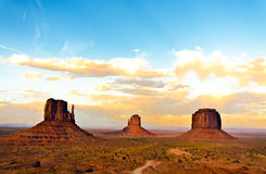 Monument Valley sunset Stock Photography