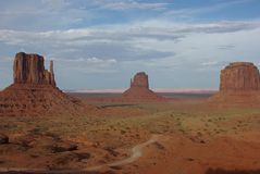 Monument Valley at sunset Stock Photos