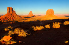 Monument Valley in sunset Stock Photo