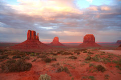 Monument Valley at sunset Royalty Free Stock Photography