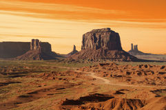 Monument Valley Sunset Stock Photos