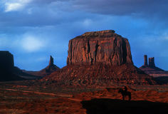 Monument Valley at Sunset, Arizona Royalty Free Stock Images