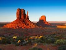 Monument Valley, Desert Landscape Sunset, American Southwest stock photo