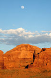 Monument valley at the sunset Stock Photography