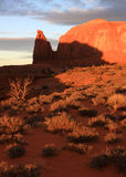 Monument valley sunset Royalty Free Stock Image