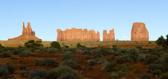 Monument valley at sunset, Utah and Arizona border, USA Stock Images