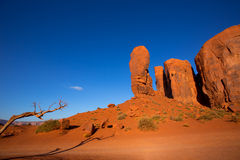 Monument Valley The Thumb Cly butte Utah Stock Images