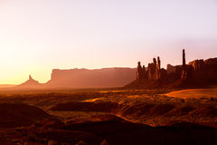 Monument Valley Totem Pole sunrise Utah Stock Photos