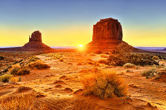 The Monument Valley Tribal Park Royalty Free Stock Photography