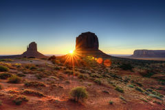 The Monument Valley Tribal Park Royalty Free Stock Photos