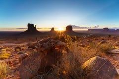 The Monument Valley Tribal Park, Arizona, USA Stock Photography