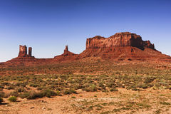 Monument Valley Tribal Park, on Arizona and Utah border line. Monument Valley, on Arizona and Utah border line Royalty Free Stock Images