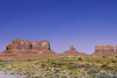 Monument  Valley tribal park Royalty Free Stock Photo