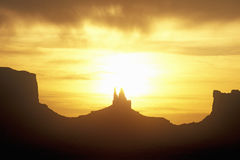 Monument Valley Tribal Park At Sunrise, Arizona Stock Images
